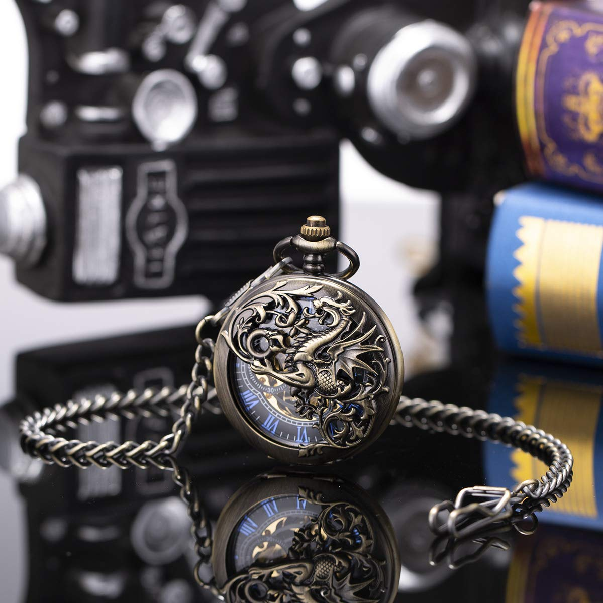Sibosun dragon draken steam punk en cosplay zakhorloge