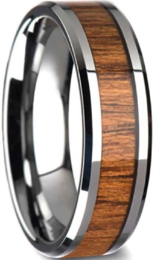 Houten heren ring